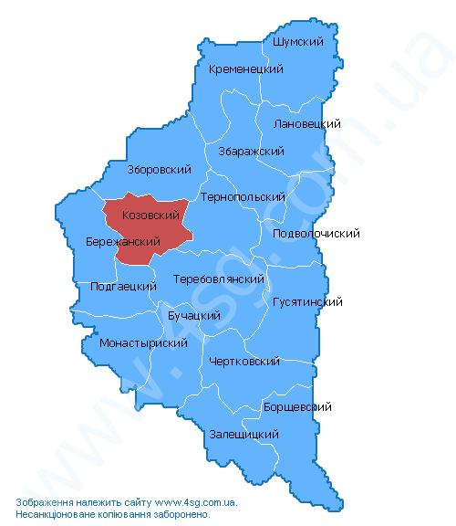 тернопольская область карта