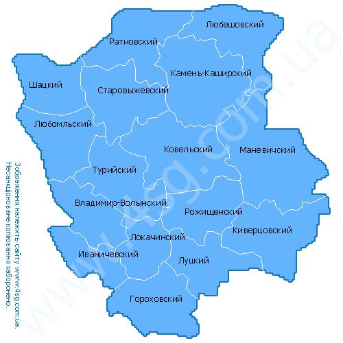 Карта Лугинського Району